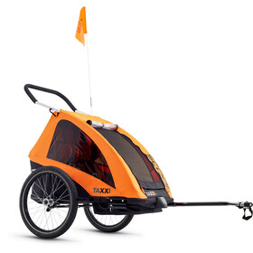 s'cool taXXi Pro Bike Trailer for Two, orange